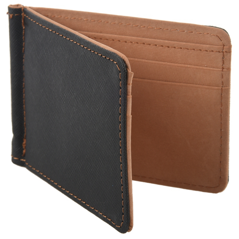 Faux-Leather-Slim-Mens-Credit-Card-Wallet-Money-Clip-Contract-Color-Simple-O8B8 thumbnail 11