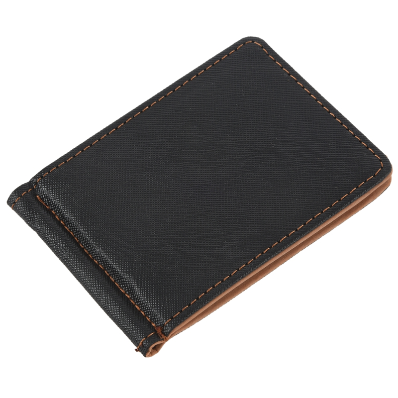 Faux-Leather-Slim-Mens-Credit-Card-Wallet-Money-Clip-Contract-Color-Simple-O8B8 thumbnail 12