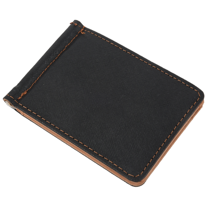 Faux-Leather-Slim-Mens-Credit-Card-Wallet-Money-Clip-Contract-Color-Simple-O8B8 thumbnail 13