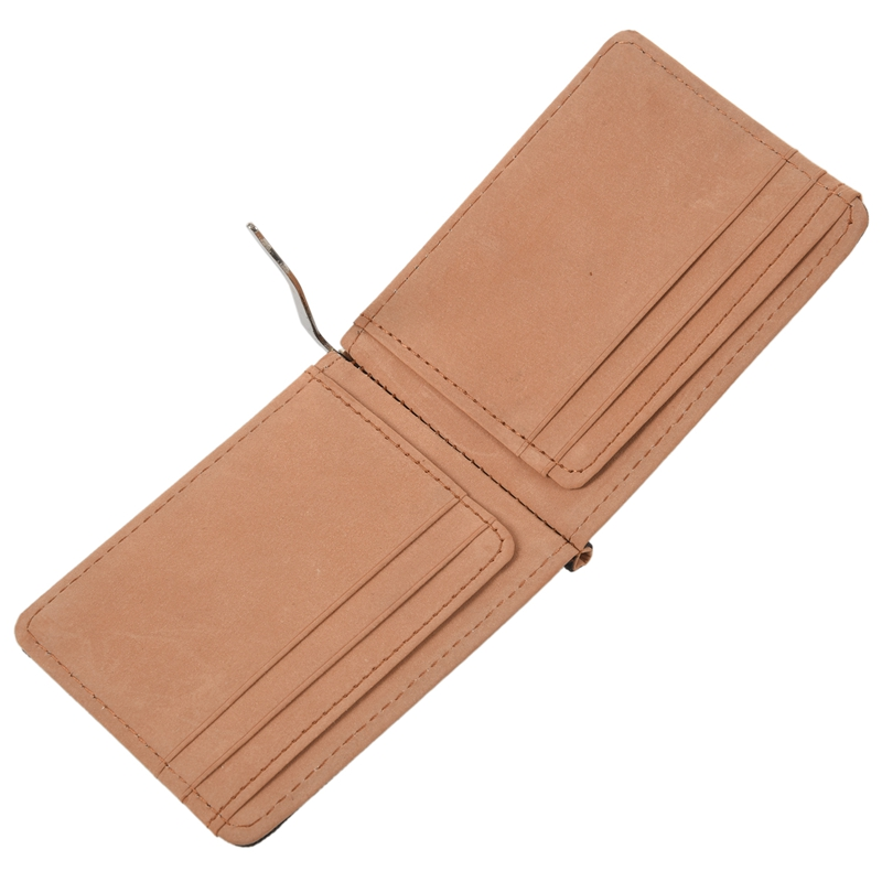 Faux-Leather-Slim-Mens-Credit-Card-Wallet-Money-Clip-Contract-Color-Simple-O8B8 thumbnail 16
