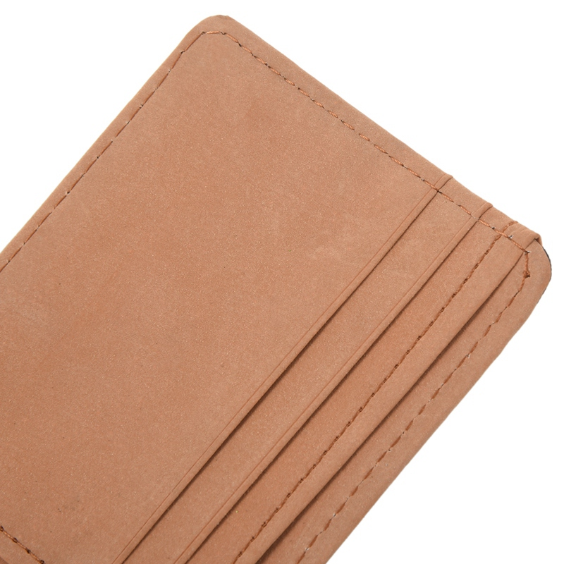 Faux-Leather-Slim-Mens-Credit-Card-Wallet-Money-Clip-Contract-Color-Simple-O8B8 thumbnail 17