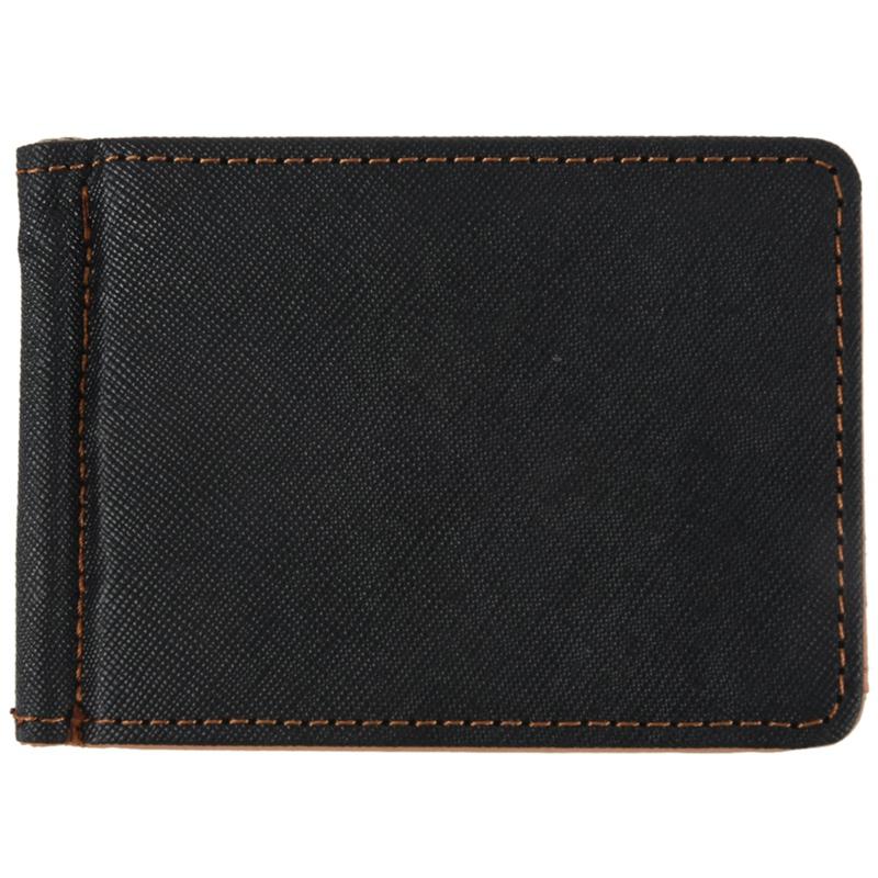 Faux-Leather-Slim-Mens-Credit-Card-Wallet-Money-Clip-Contract-Color-Simple-S2R7 thumbnail 10
