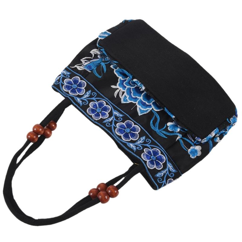 Chinese-Style-Women-Handbag-Embroidery-Ethnic-Summer-Fashion-Handmade-Flowers-TO thumbnail 19