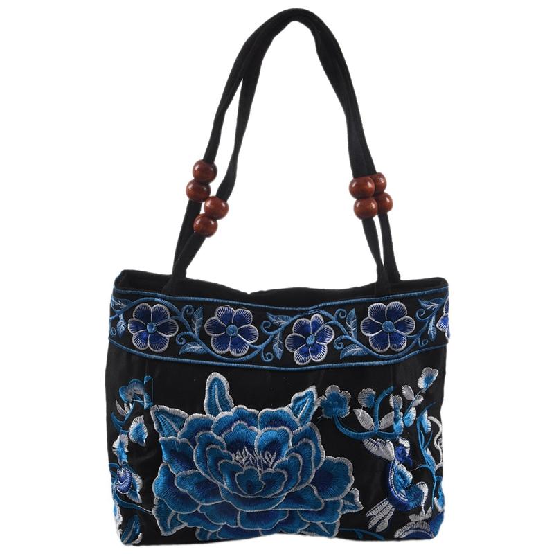 Chinese-Style-Women-Handbag-Embroidery-Ethnic-Summer-Fashion-Handmade-Flowers-TO thumbnail 24
