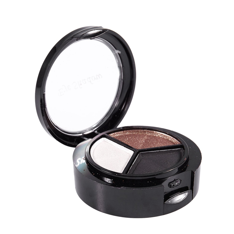 miniatuur 14 - Professional Smoky Cosmetic Set 3 Colors Natural Matte Eyeshadow Makeup Too J5E7