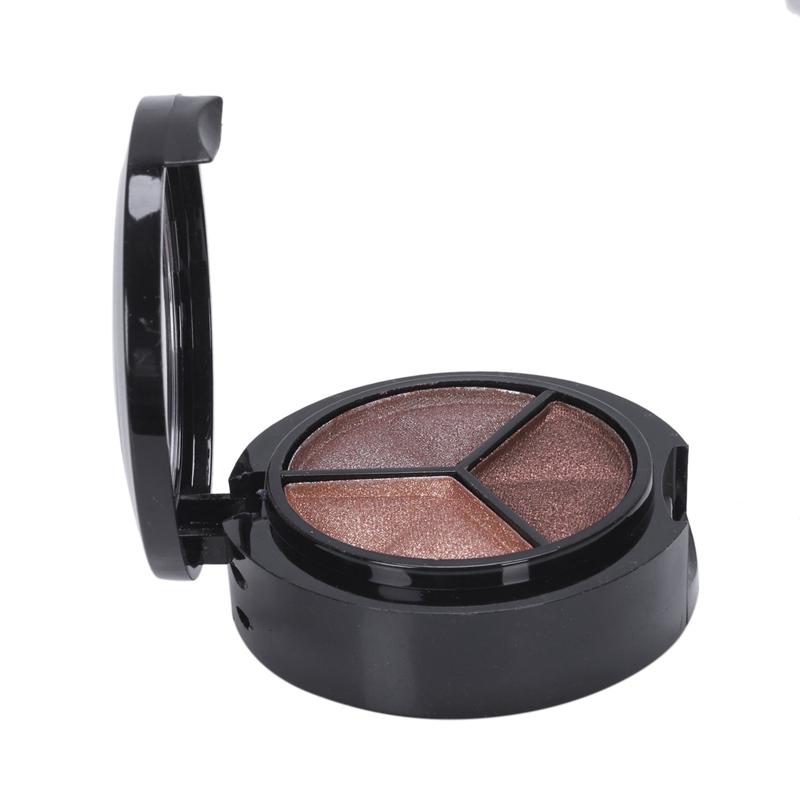 miniatuur 23 - Professional Smoky Cosmetic Set 3 Colors Natural Matte Eyeshadow Makeup Too J5E7