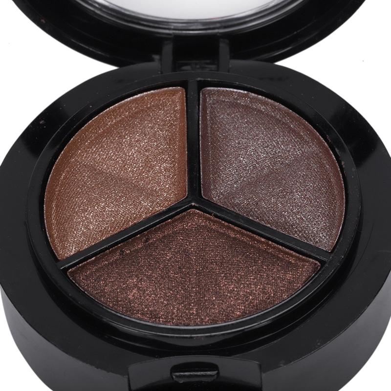 miniatuur 28 - Professional Smoky Cosmetic Set 3 Colors Natural Matte Eyeshadow Makeup Too J5E7