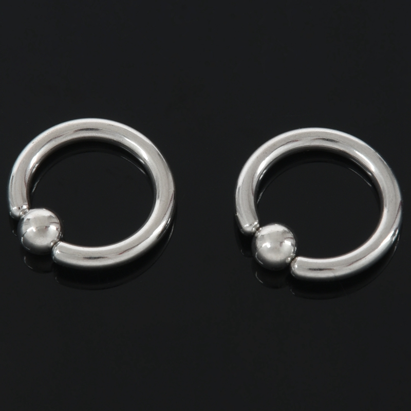 1-Par-de-Acero-Inoxidable-Perlas-Cautivas-Del-Oido-Aros-Hoop-Bcr-Studs-Pier-G8Q9 miniatura 8