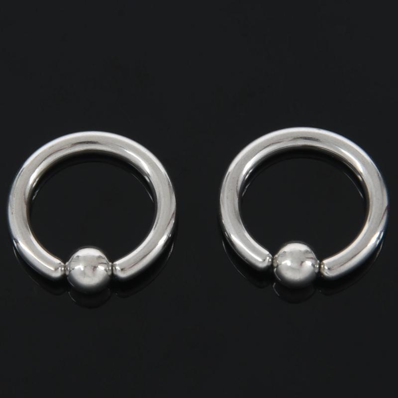 1-Par-de-Acero-Inoxidable-Perlas-Cautivas-Del-Oido-Aros-Hoop-Bcr-Studs-Pier-G8Q9 miniatura 9