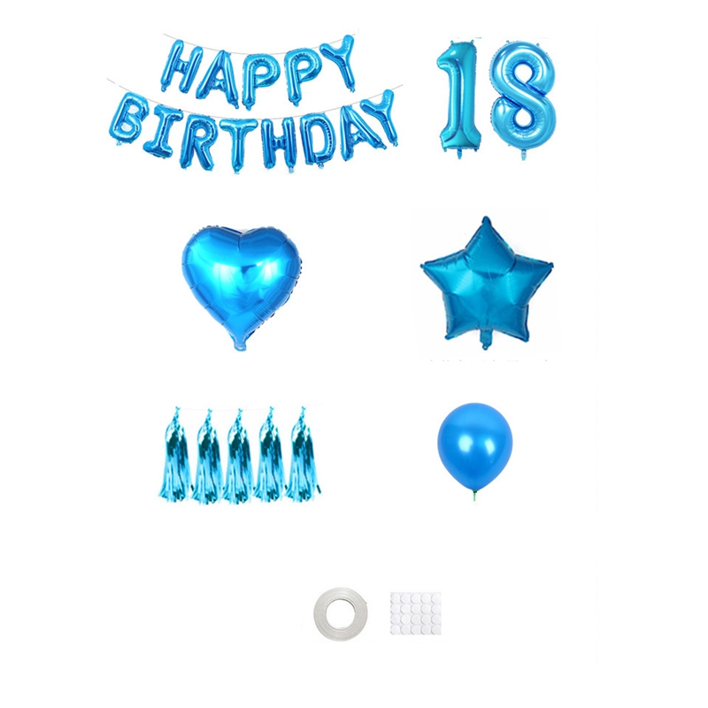 thumbnail 11 - 1X(Happy Birtay Party Decorations Letter Balloons Number Foil Balloon Gl A2V4