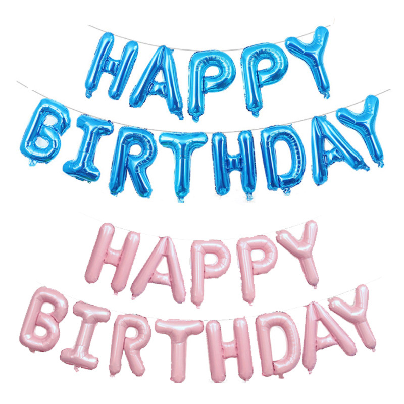 thumbnail 12 - 1X(Happy Birtay Party Decorations Letter Balloons Number Foil Balloon Gl A2V4