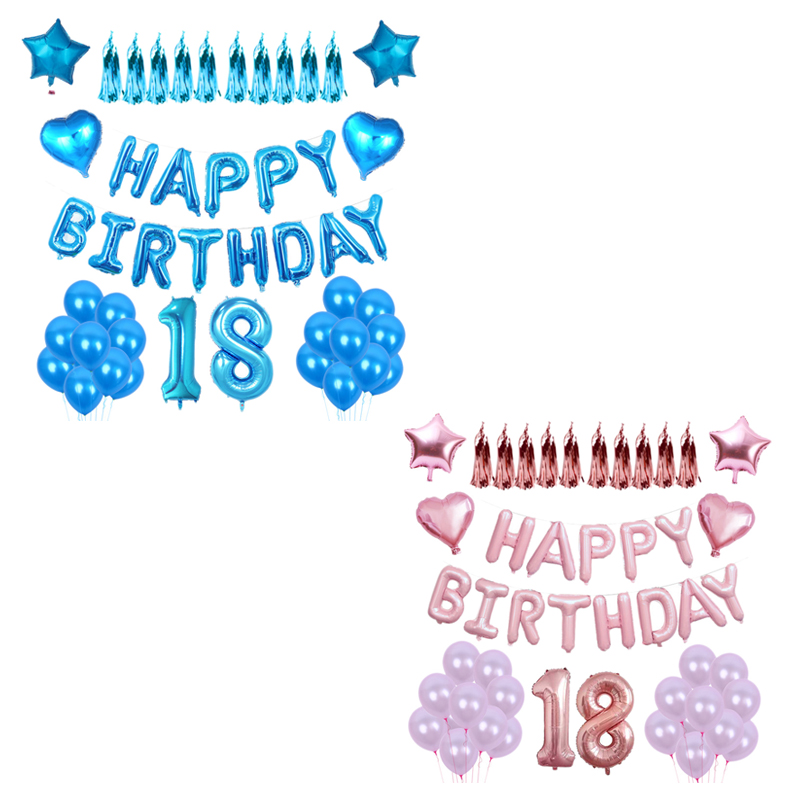 thumbnail 13 - 1X(Happy Birtay Party Decorations Letter Balloons Number Foil Balloon Gl A2V4