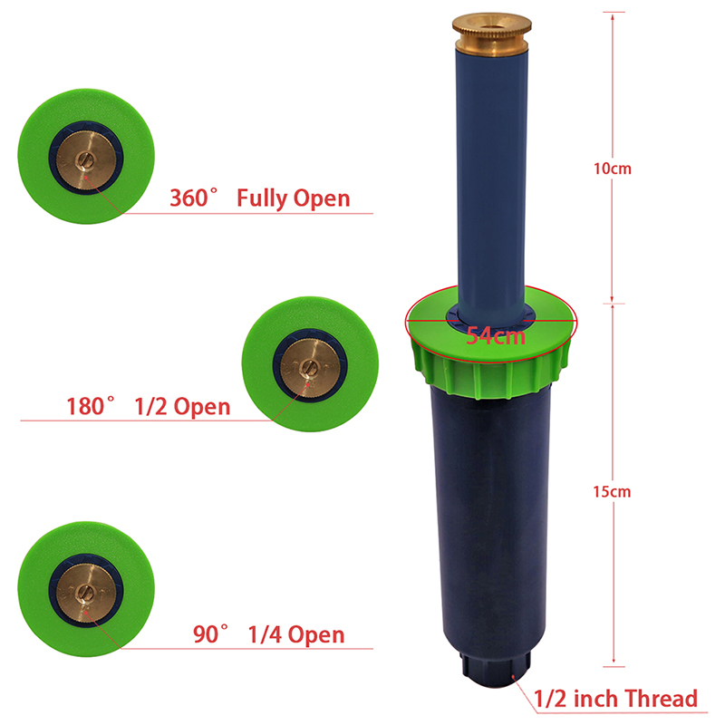 4-Pieces-1-2-Inch-Internal-Thread-Pop-Up-Nozzle-Lawn-Irrigation-Gear-Drive-M5I7 thumbnail 3