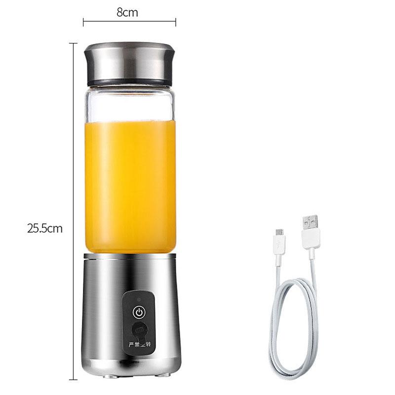 380Ml-Portable-Juicer-Multifonction-Coupe-Mixer-Usb-Recharge-6-Lames-D9C1 miniature 4