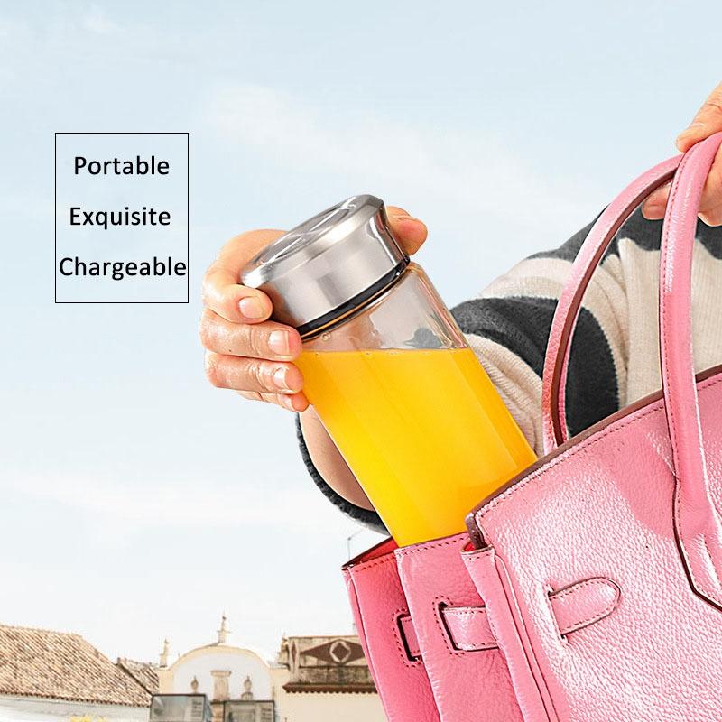 380Ml-Portable-Juicer-Multifonction-Coupe-Mixer-Usb-Recharge-6-Lames-D9C1 miniature 21