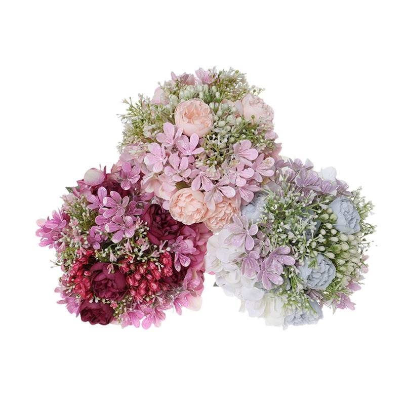 Simulation-MarieE-Tenant-des-Fleurs-CreAtives-en-Plastique-Bouquet-de-Demoi-T6P4 miniature 5