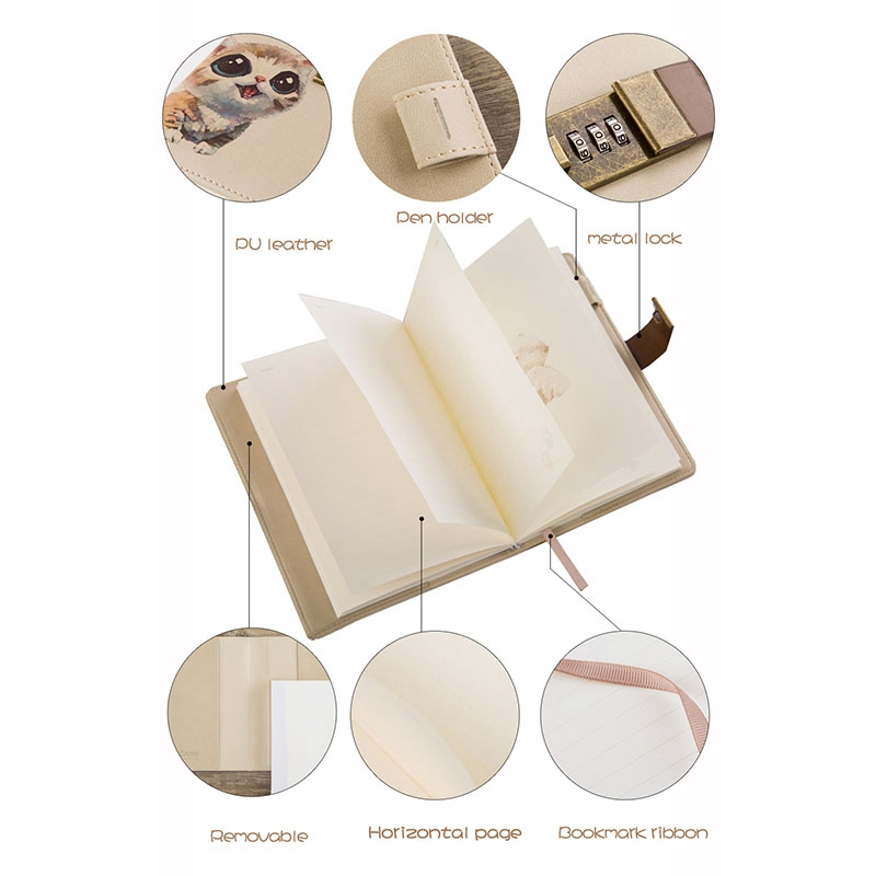 B6-Cuaderno-Lindo-Bloc-de-Notas-Diario-Secreto-Memos-Planificador-Agenda-Cuadern miniatura 5