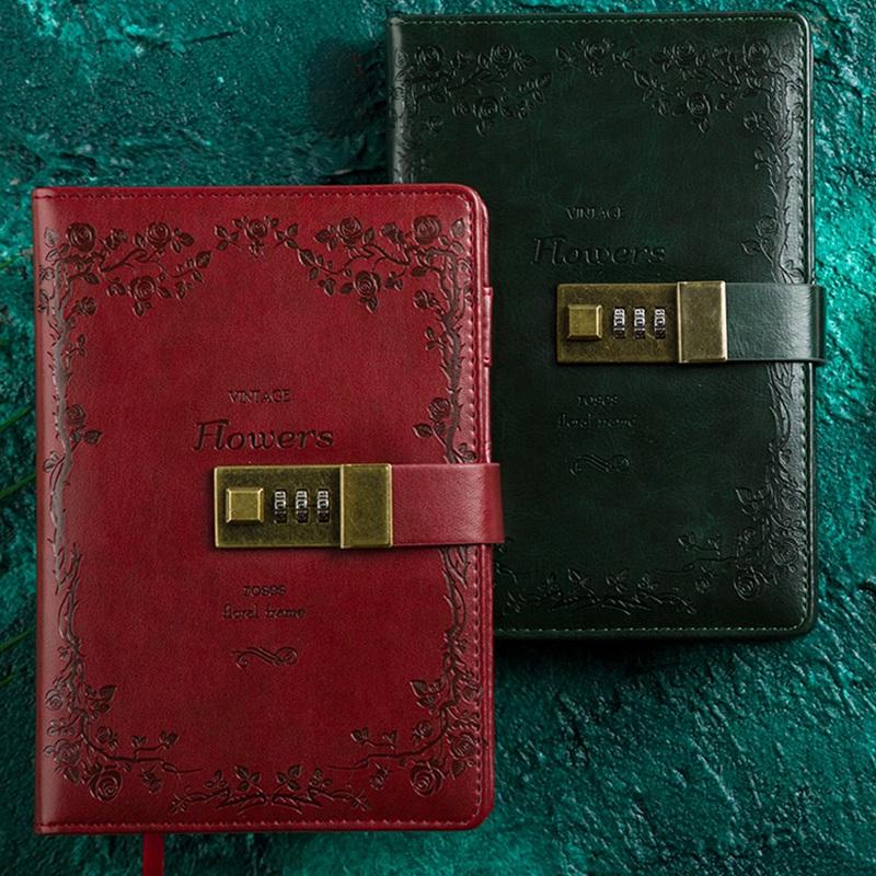 Retro-Vintage-Notebook-Contrasena-Planificador-de-Libros-Office-Lady-ProteccioN miniatura 3