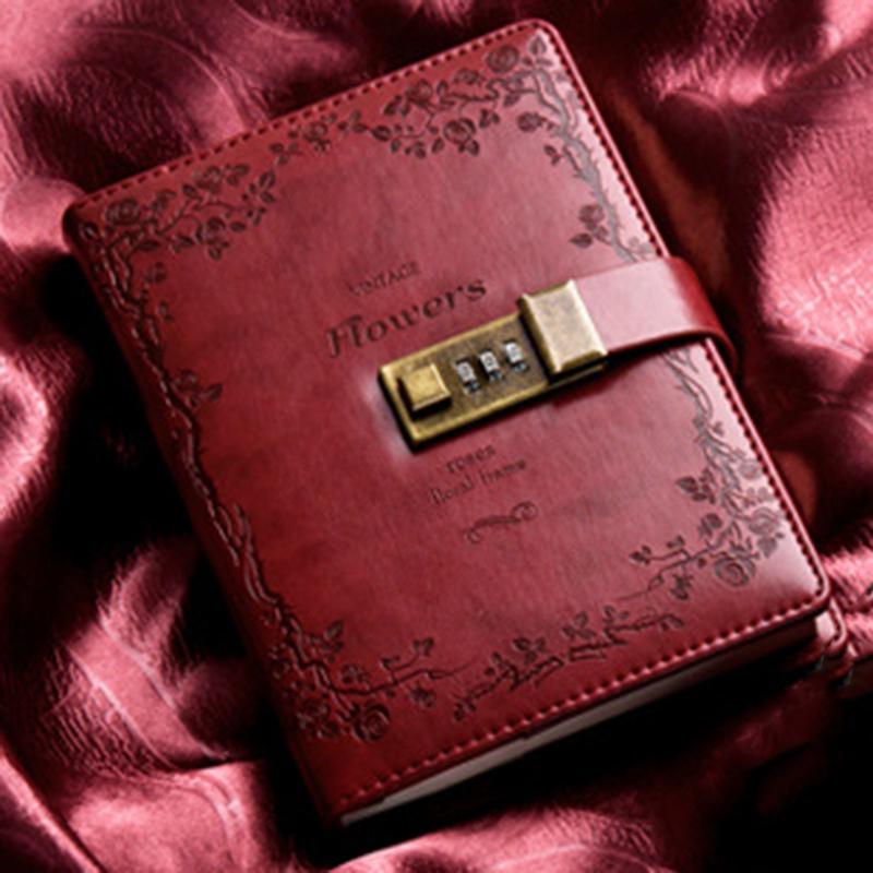 Retro-Vintage-Notebook-Contrasena-Planificador-de-Libros-Office-Lady-ProteccioN miniatura 5