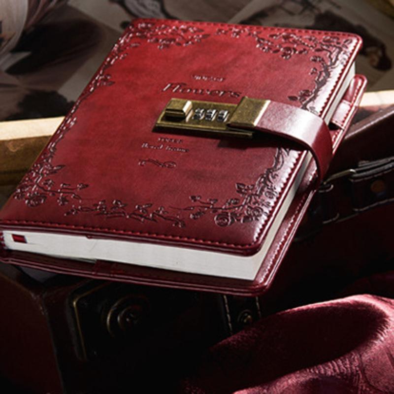 Retro-Vintage-Notebook-Contrasena-Planificador-de-Libros-Office-Lady-ProteccioN miniatura 16