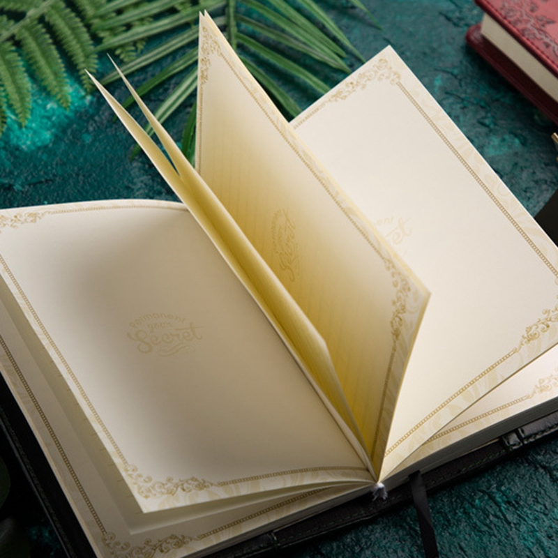 Retro-Vintage-Notebook-Contrasena-Planificador-de-Libros-Office-Lady-ProteccioN miniatura 27