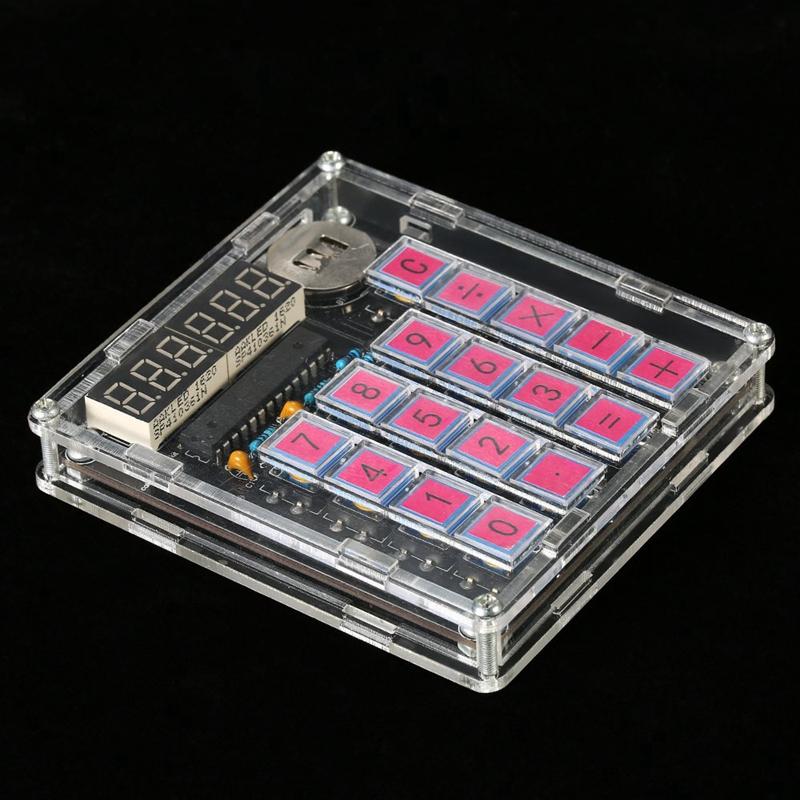 2X-Diy-Calculator-Kit-Digital-Tube-Calculator-with-Transparent-Case-Built-iW3N4 thumbnail 5