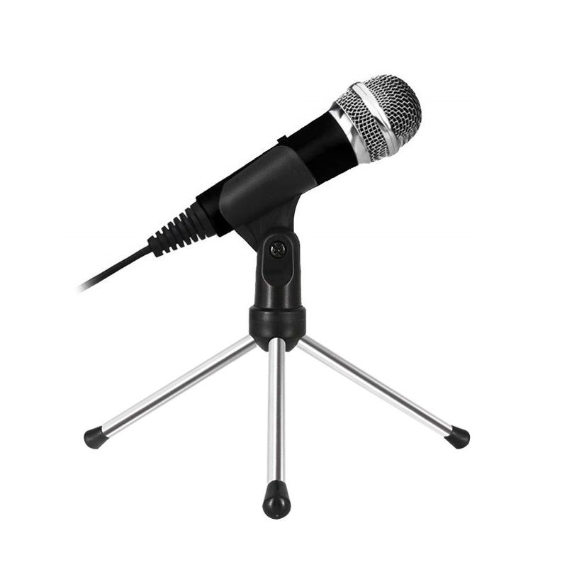Microfono-Karaoke-Mini-Cardioide-con-Supporto-per-PC-Karaoke-Youtube-Regi-Q9F1
