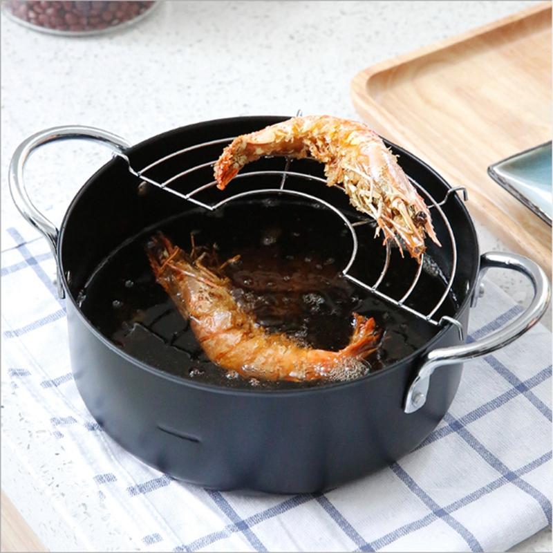 Tempura-Frying-Pot-Japanese-Style-Deep-Fryer-Convenient-Frying-Pots-with-Oi-J9V9 thumbnail 3
