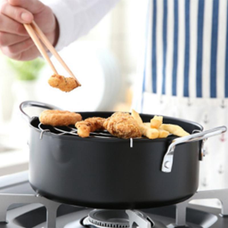 Tempura-Frying-Pot-Japanese-Style-Deep-Fryer-Convenient-Frying-Pots-with-Oi-J9V9 thumbnail 6