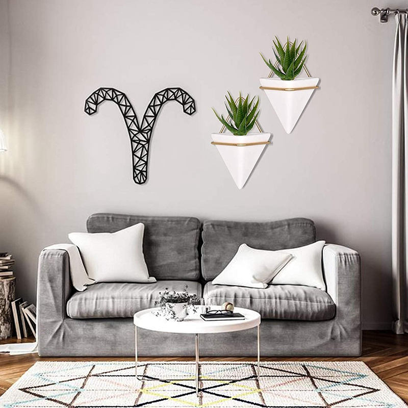 Home-Goods-Modern-Hanging-Planter-Pots-2-Pack-Small-Decorative-Wall-Plan-C7S2 thumbnail 4