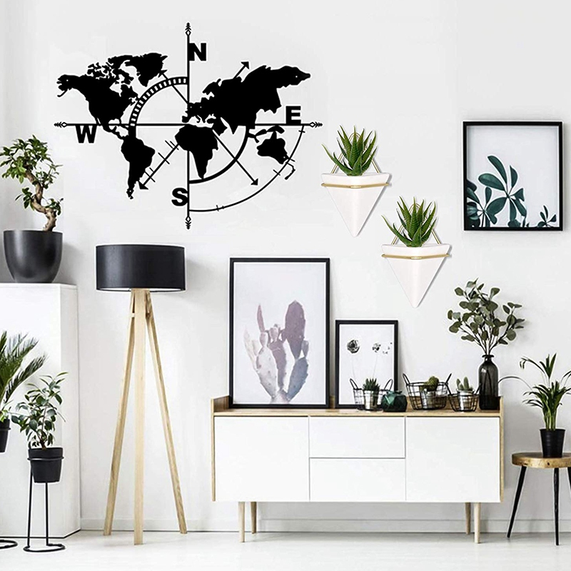 Home-Goods-Modern-Hanging-Planter-Pots-2-Pack-Small-Decorative-Wall-Plan-C7S2 thumbnail 5