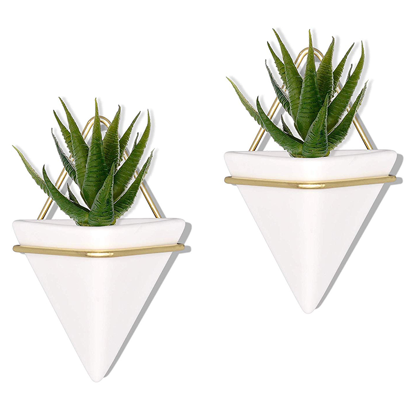 Home-Goods-Modern-Hanging-Planter-Pots-2-Pack-Small-Decorative-Wall-Plan-C7S2 thumbnail 7