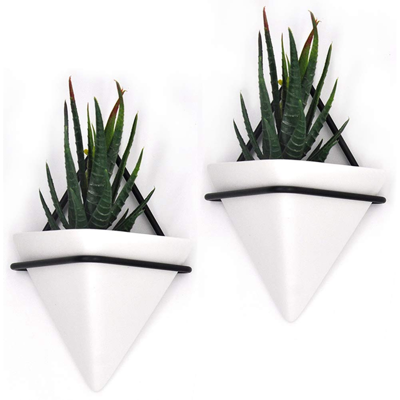 Home-Goods-Modern-Hanging-Planter-Pots-2-Pack-Small-Decorative-Wall-Plan-C7S2 thumbnail 11