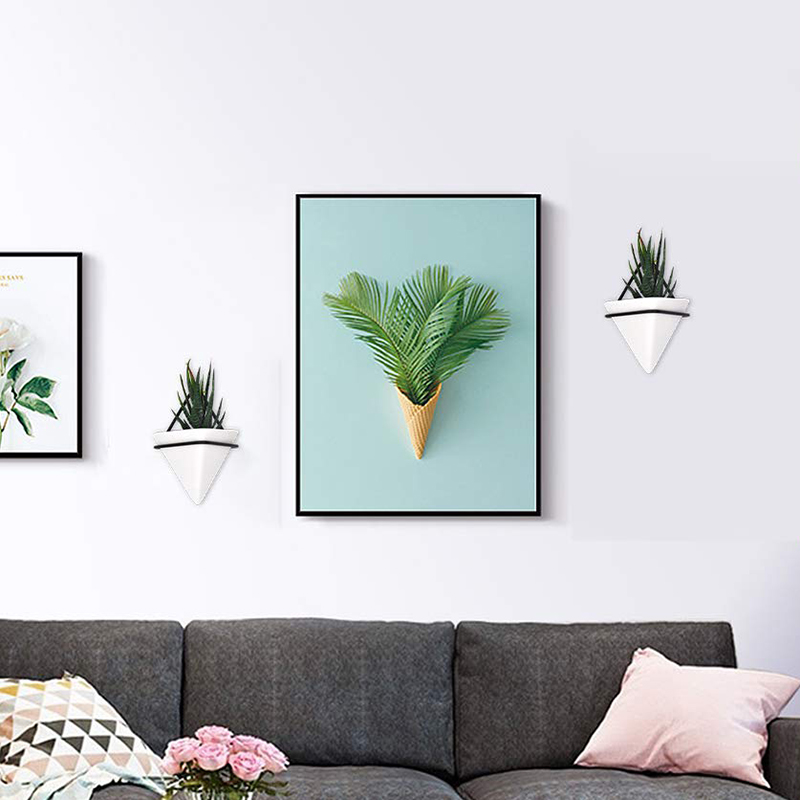 Home-Goods-Modern-Hanging-Planter-Pots-2-Pack-Small-Decorative-Wall-Plan-C7S2 thumbnail 13