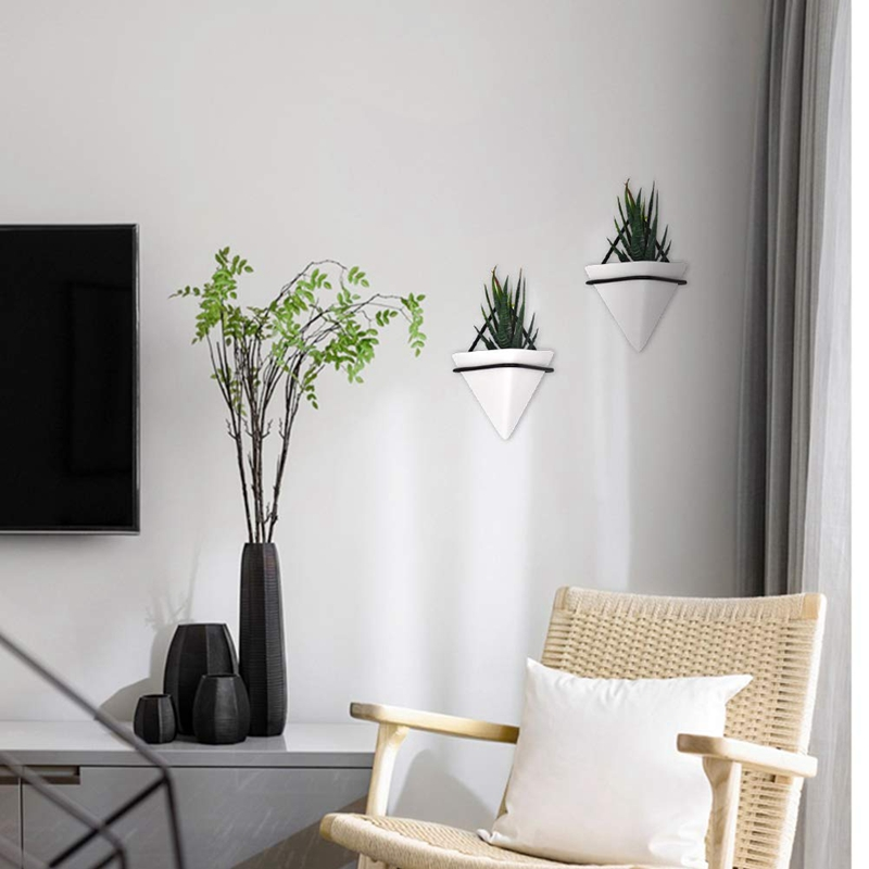 Home-Goods-Modern-Hanging-Planter-Pots-2-Pack-Small-Decorative-Wall-Plan-C7S2 thumbnail 14