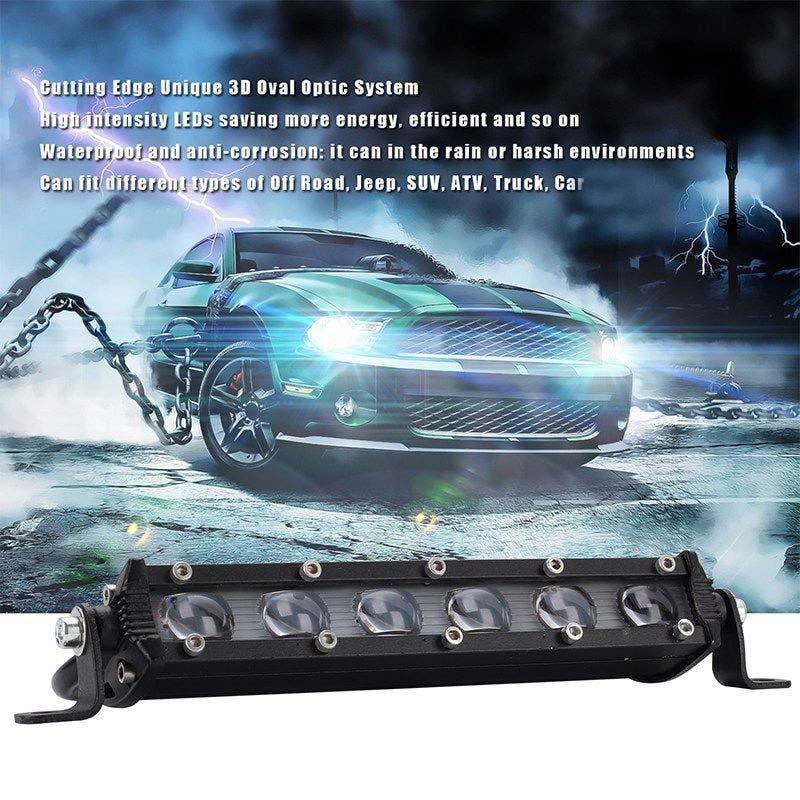 2X 36W Slim Led Light Bar Spot Flood Motorcycle ATV 4x4WD Bumper Backup Pods