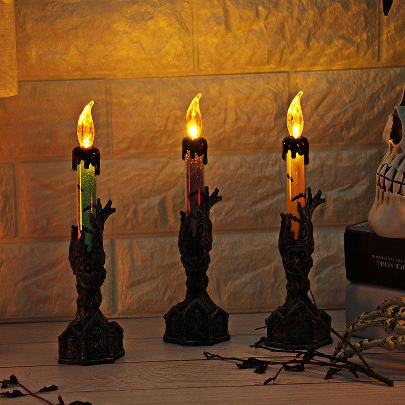 Halloween-Crane-Squelette-Main-Stand-Led-Bougie-LumieRe-DeCorations-deQ4V3 miniature 4