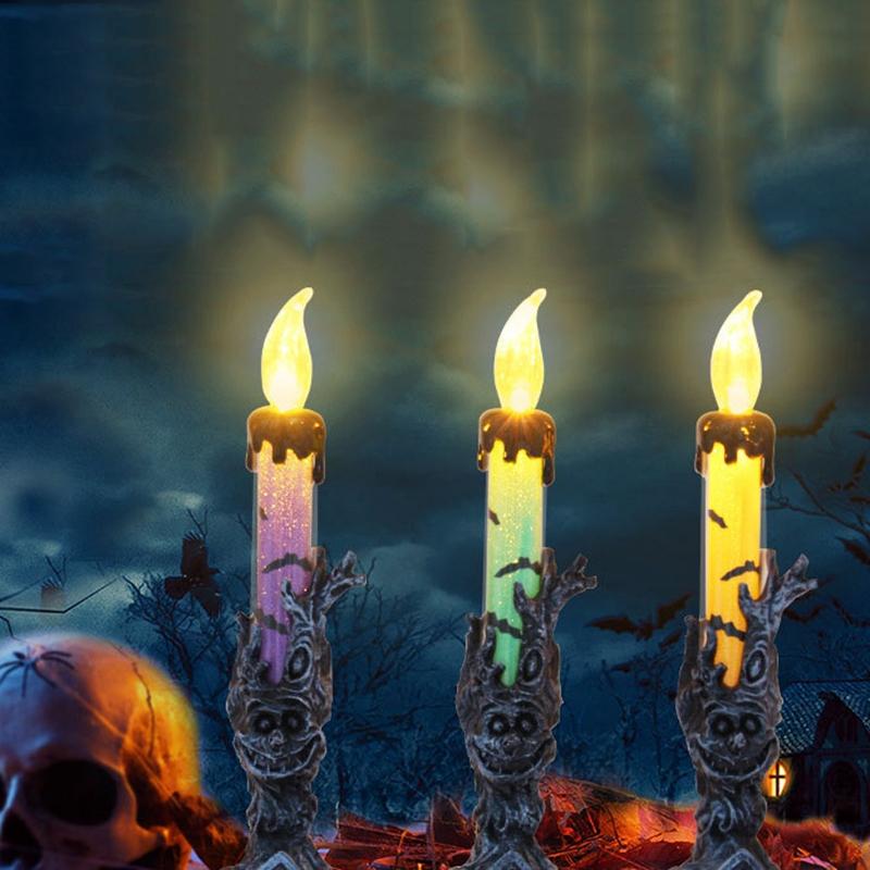 Halloween-Crane-Squelette-Main-Stand-Led-Bougie-LumieRe-DeCorations-deQ4V3 miniature 8