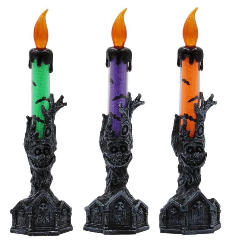 Halloween-Crane-Squelette-Main-Stand-Led-Bougie-LumieRe-DeCorations-deQ4V3 miniature 9