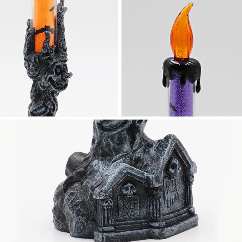 Halloween-Crane-Squelette-Main-Stand-Led-Bougie-LumieRe-DeCorations-deQ4V3 miniature 14