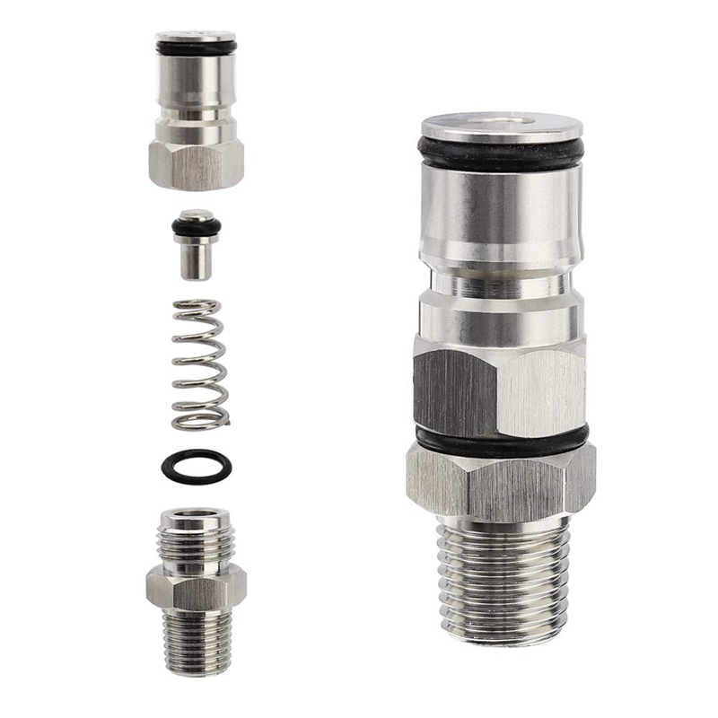 1-4-Inch-Male-Npt-Hex-Nipple-Gas-Ball-Lock-Post-with-Poppers-Ball-Lock-Adap-X4D4 thumbnail 4