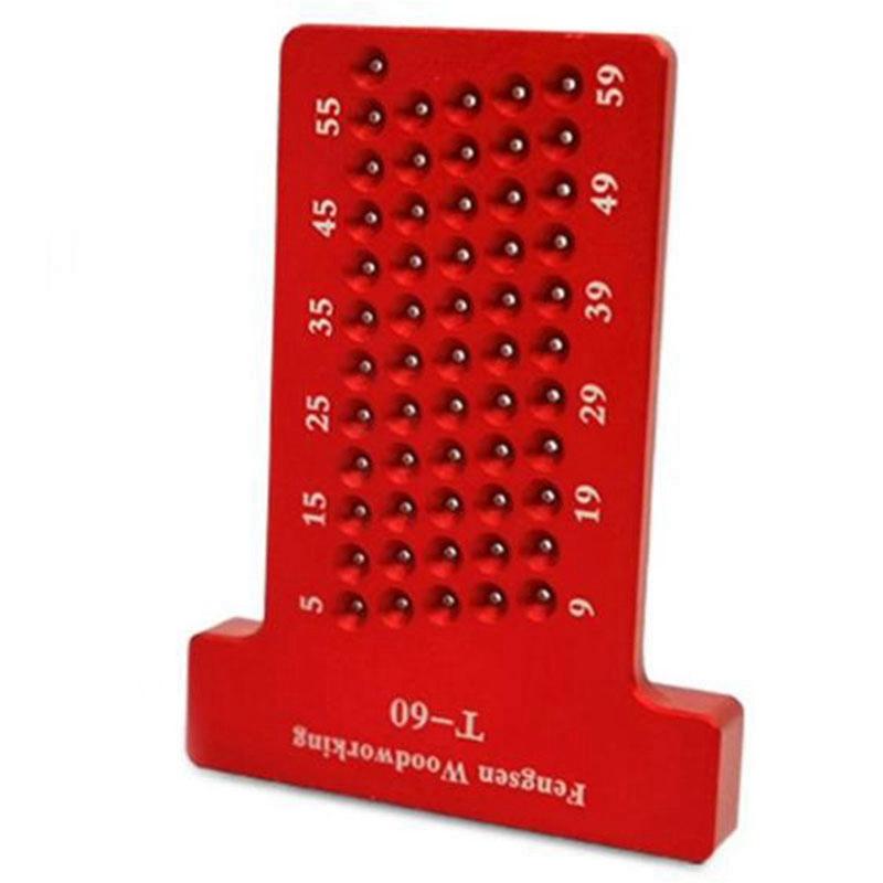 Scribe-a-Bois-T60-ReGle-en-Forme-de-Trou-Jauge-de-TracAge-Aluminium-Pieds-C-X3Q2 miniature 5