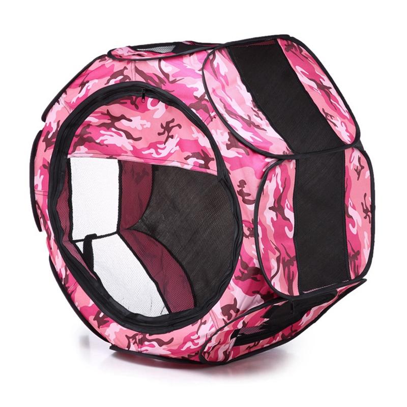 Portable-Folding-Pet-Tent-Dog-House-Cage-Dog-Cat-Tent-Playpen-Puppy-Kennel-D9T1 thumbnail 4