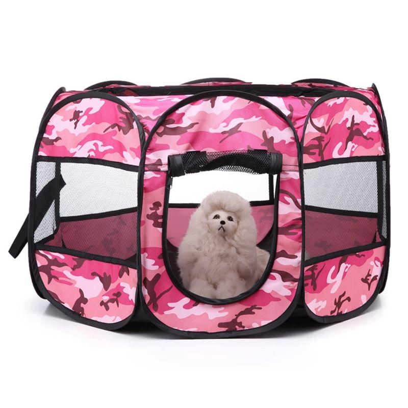 Portable-Folding-Pet-Tent-Dog-House-Cage-Dog-Cat-Tent-Playpen-Puppy-Kennel-D9T1 thumbnail 6