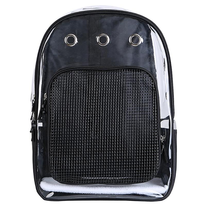 Pet-Clear-Cat-Backpack-Carrier-Respirant-Pliable-Pet-Backpack-Carrier-pour-Chiot miniature 6
