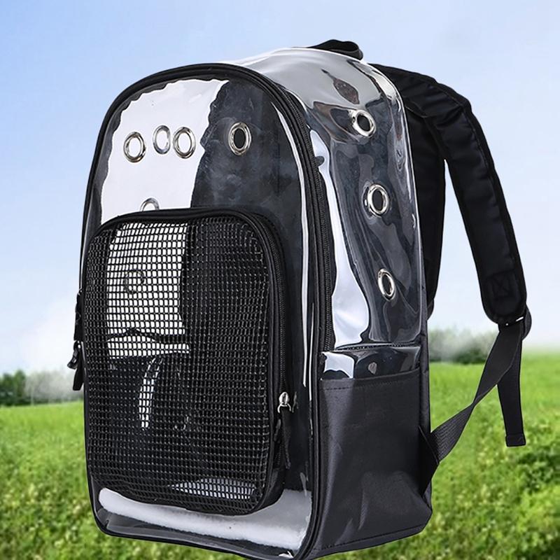 Pet-Clear-Cat-Backpack-Carrier-Respirant-Pliable-Pet-Backpack-Carrier-pour-Chiot miniature 12