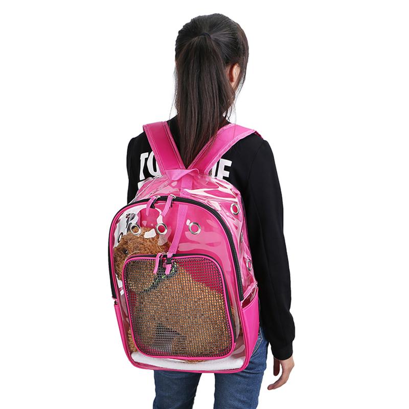 Pet-Clear-Cat-Backpack-Carrier-Respirant-Pliable-Pet-Backpack-Carrier-pour-Chiot miniature 17