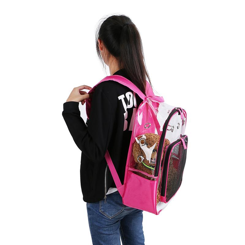 Pet-Clear-Cat-Backpack-Carrier-Respirant-Pliable-Pet-Backpack-Carrier-pour-Chiot miniature 18