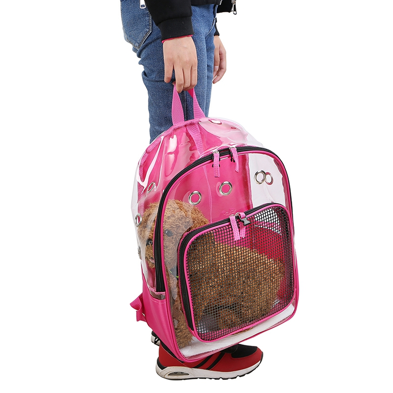 Pet-Clear-Cat-Backpack-Carrier-Respirant-Pliable-Pet-Backpack-Carrier-pour-Chiot miniature 19