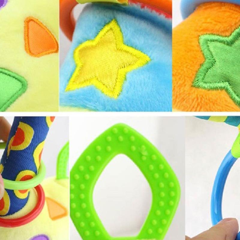HAPPY-MONKEY-NinOs-Handbells-Sonajeros-Juguetes-Bebe-Juguetes-Blandos-Desar-O2L2 miniatura 4